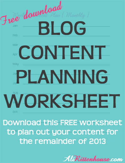 A Content Plan for Your Website